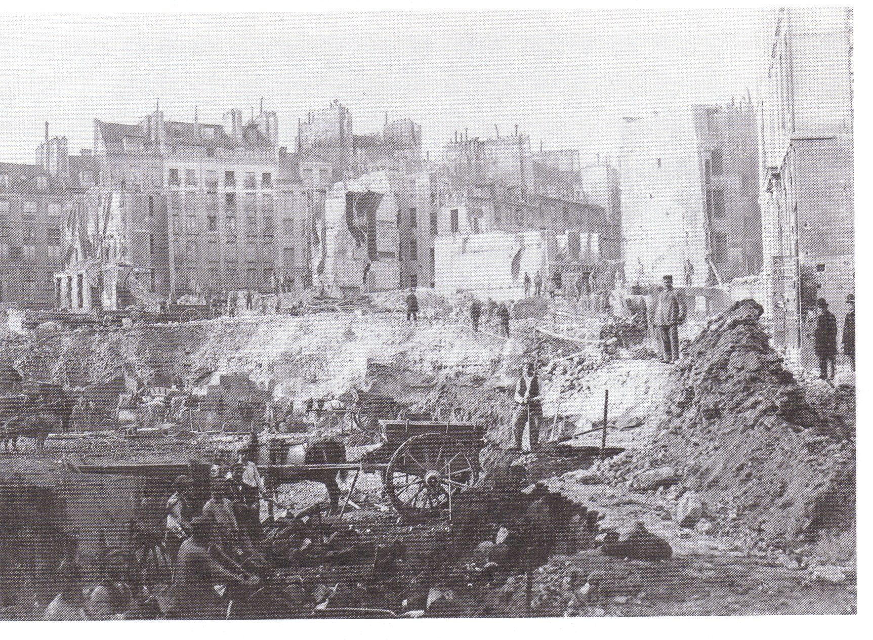 removal of buildings and hill